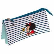 GRAFOPLAS 37540659. Estuche escolar portatodo triple Mafalda Marinera