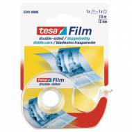 TESA Cinta adhesiva  doble cara transparente, 12 mm x 7,5 m. - 57912-00000-00