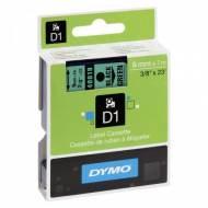 DYMO Cinta D1 (9 mm x 7 m) Negro sobre Verde -S0720740