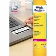 AVERY L6145-20. Pack de 20 hojas de etiquetas de seguridad (800 etiquetas de 45,7 x 25,4 mm)