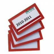 TARIFOLD Pack de 4 marcos de identificación (80 x 45 mm). Color rojo - 194853