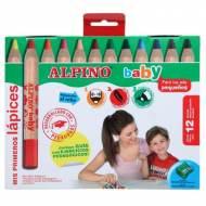 ALPINO AL000177. Estuche de 12 lápices de colores surtidos