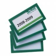 TARIFOLD Pack de 4 marcos de identificación (80 x 45 mm). Color verde - 194855