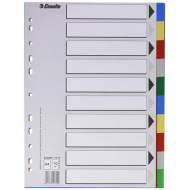 ESSELTE Separadores colores vivos - Formato A4, 10 posiciones - 11710