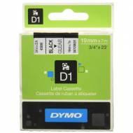 DYMO Cinta D1 (19 mm x 7 m) Negro sobre transparente - S0720820