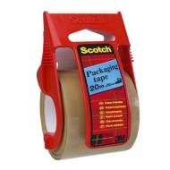 Scotch® Cinta embalaje para transporte marrón + dispensador (50mm x 20 m) - 70005181469