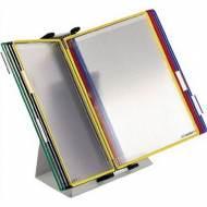 TARIFOLD Clasificador de sobremesa metálico con 10 fundas A4 de colores surtidos - 434109