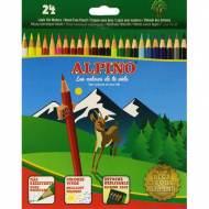 ALPINO AL010658. Estuche de 24 lápices de colores surtidos