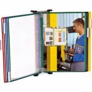 TARIFOLD Clasificador de pared con 10 fundas A4. Colores surtidos - 464109