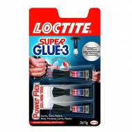 LOCTITE Adhesivo Super Glue-3 Power Flex. (3 ud x 1 gr.) - 1879583