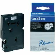 BROTHER TC291 Cinta TC, laminada (9 mm x 7,7 m). Negro sobre blanco