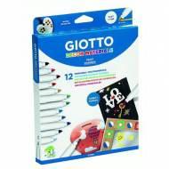 GIOTTO Estuche 12 Decor Materiales. Colores surtidos - 453400