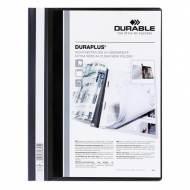 DURABLE Dossiers fástener Duraplus PVC. Formato A4 color Negro - 2579-01