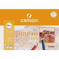 GUARRO CANSON Minipack de 10 hojas de dibujo Basik A4, 130 gr. - 400045613