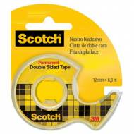 Scotch Cinta adhesiva doble cara, 12 mm x 6 m. con portarrollos - 70005232916