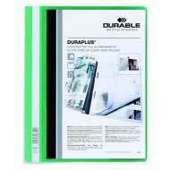 DURABLE 257905. Dossiers fástener Duraplus PVC. Formato A4 color verde