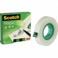 Scotch Magic 810-1233 Cinta adhesiva invisible, 12 mm. x 33 m. Caja individual