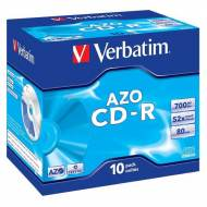 VERBATIM CD-R Super AZO 52x 700MB Crystal Surface. Pack 10 uds - 43327