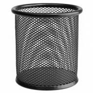 ErichKrause 22501. Cubilete redondo STEEL rejilla negro