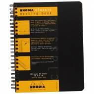 RHODIA Cuaderno Meeting Book 80h A5+ 160x210 Negro/Naranja -19341C