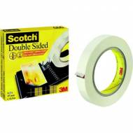 Scotch Cinta adhesiva doble cara, 19 mm x 33 m. con film protector - D6661933