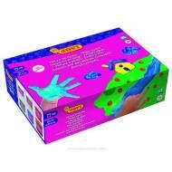 JOVI Pintura de dedos. Caja de 6 colores surtidos de 125 ml. - 560/S