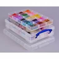 ARCHIVO 2000 Caja organizadora, 2 bandejas, 30 huecos (4 L). Transparente - RU4-2X15 CS TP