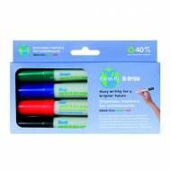 BI-OFFICE Pack de 4 marcadores Earth-It para pizarra blanca. Colores surtidos - PE2206