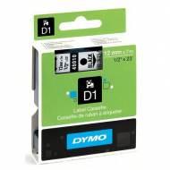 DYMO Cinta D1 (12 mm x 7 m) Negro sobre Transparente - S0720500