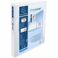 EXACOMPTA Carpeta anillas Krea Cover A4+ 2-30 mm BLANCO Personalizable - 51822E