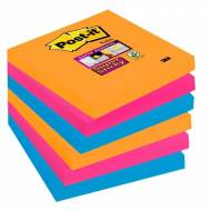 POST-IT Notas adhesivas Super Sticky Bangkok. Pack 6 blocs 90h. Colores eléctricos 76x76mm - 654-6SS-EG