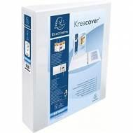 EXACOMPTA Carpeta anillas Krea Cover A4 2-40 mm BLANCO Personalizable - 51823E