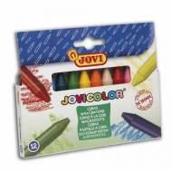 JOVI Estuche de 12 ceras Jovicolor de colores surtidos - 980/12