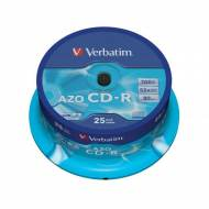 VERBATIM CD-R Super AZO 52x 700 MB Crystal. Spindle 25 uds - 43352