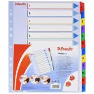 ESSELTE Índices numéricos reutilizables - 12 posiciones A4 - 100209