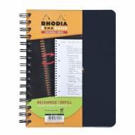 RHODIA Recambio de papel Exabook 80h A5+ Cuadricula 5x5 - 133572C