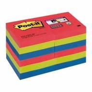 POST-IT Notas adhesivas Super Sticky Bora-Bora. Pack 12 blocs 90h, 51x51mm - 622-12SS-JP