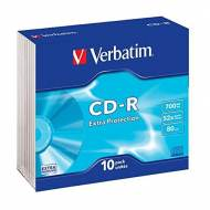VERBATIM Pack 10 CD Datalife 52x 700 MB Extra Protection - 43415
