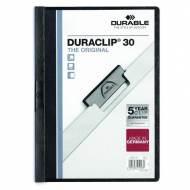 DURABLE Dossiers con clip Duraclip. Capacidad 30 hojas A4 Negro - 2200-01