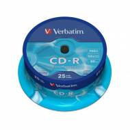 VERBATIM CD-R Datalife 52x 700 MB Spindle 25 uds. - 43432