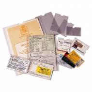 ESSELTE Fundas portacarnets - Caja 100 ud. Dimensiones 82 x 122 mm - 46004