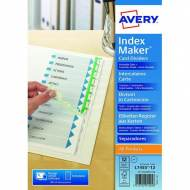 AVERY 01640061 Índices imprimibles Index Maker perforados A4 - 12 posiciones