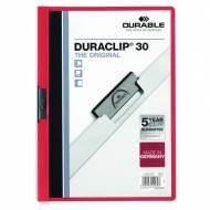 DURABLE 220003. Dossiers con clip Duraclip 30 A4. Capacidad 30 hojas Rojo