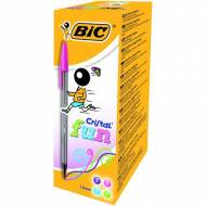 BIC Bolígrafo Cristal Large Fashion. Trazo 0,6 mm. Pack 20 und. Colores surtidos - 895793
