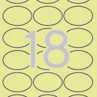 APLI 11799. Carpeta 20 hojas A4 etiquetas crema ovaladas (63.5 x 42.3 mm.)
