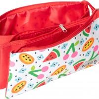 GRAFOPLAS 37540670. Estuche escolar portatodo triple Elena Corredoira Frutas