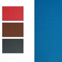 GRAFOPLAS 00036751. Pack 5 láminas de Goma Eva corrugada de 40 x 60 cm. Color rojo