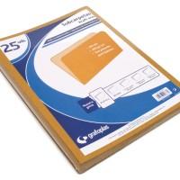 GRAFOPLAS 00017749. Pack 250 subcarpetas kraft eco Folio de 200 gr.