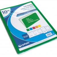 GRAFOPLAS 00077020. Pack 100 subcarpetas A4 de 240 gr. Color verde