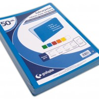GRAFOPLAS 00077136. Pack 100 subcarpetas Folio de 240 gr. Color azul turquesa